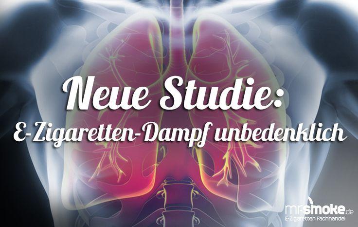 Neue Studie: E-Zigaretten Dampf hat gleiche Wirkung auf Lungengewebe wie Luft