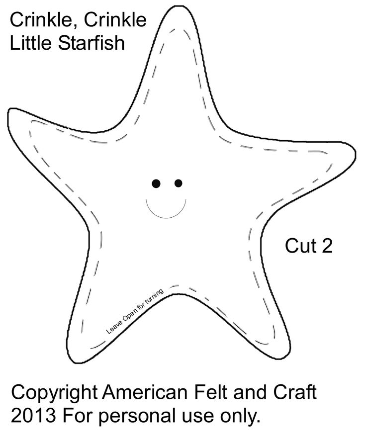 Starfish template - Please Images and  NOT template