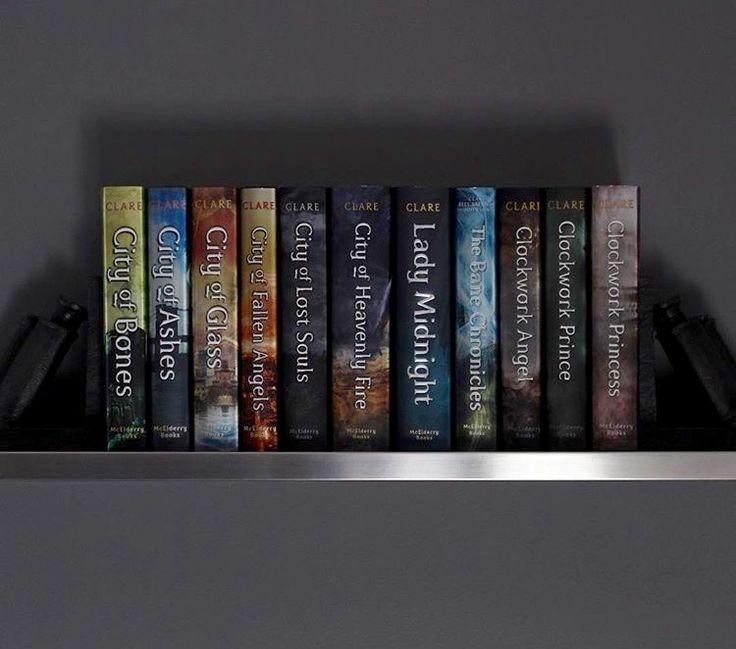 Shadow hunters series ... Literally my whole shelf
