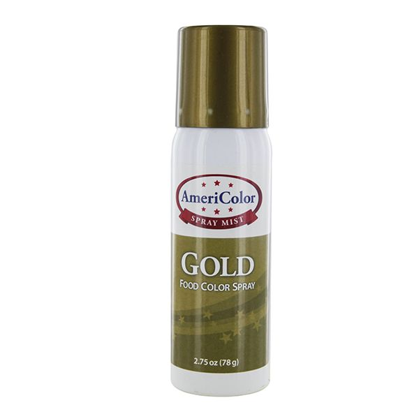 Gold food color spray ounces by americolor new for How to dye flowers using food coloring