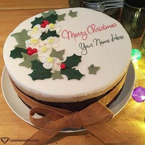 Create Merry Christmas Greetings Cake with name and give surprise to your dear ones with best online name generator. A best and free Christmas gift you can give to anyone in no time.
