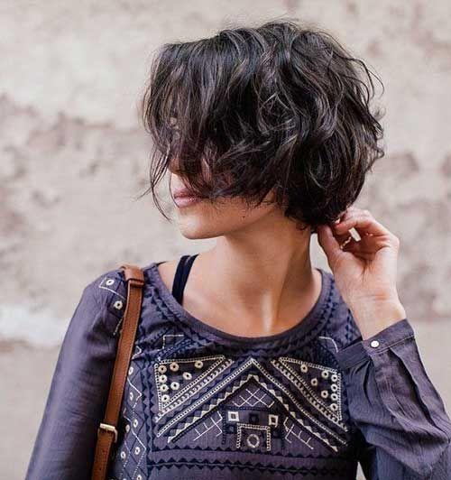 Meilleures coiffures courtes pour les femmes aux cheveux ondulés #best #women #styles #ku ... #best #fr
