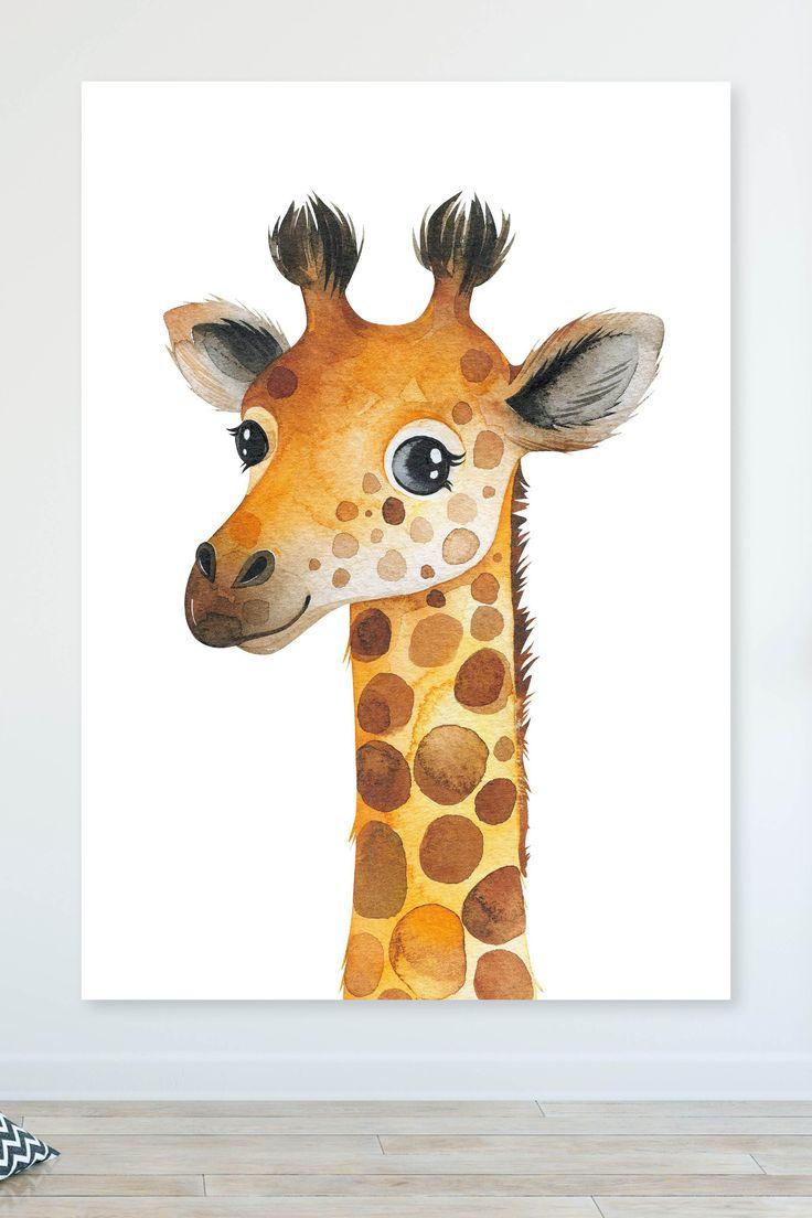 tierposter für kinderzimmer  giraffe kinder zimmer