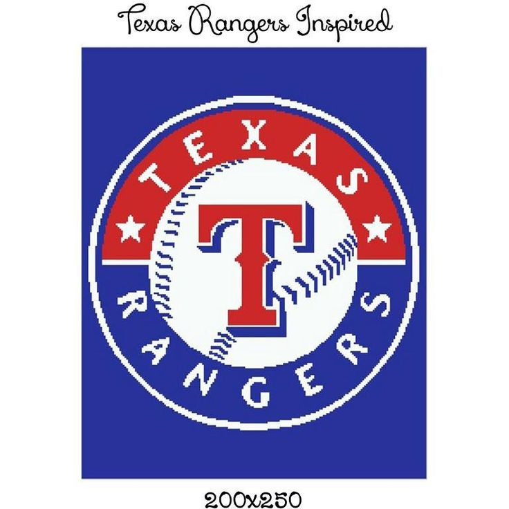 Looking for your next project? You're going to love Texas Rangers Inspired graph  by designer CrochetInfinity.