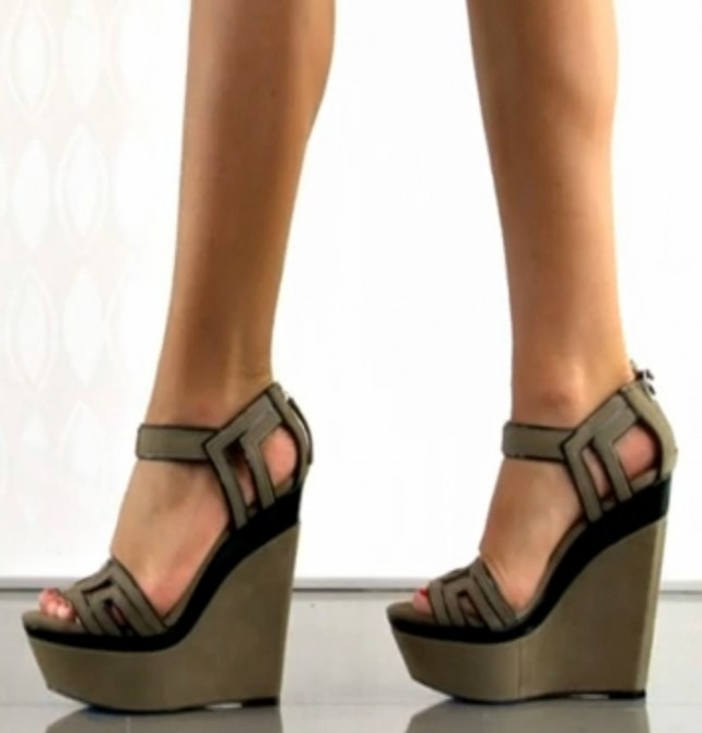 L.A.M.B. Iva - Taupe Black: Where Shoes, Shoes Wedges, Bananas, Shoes Lust, Couture Shoes, L A M B, Heels, Lamb, Funky Wedges