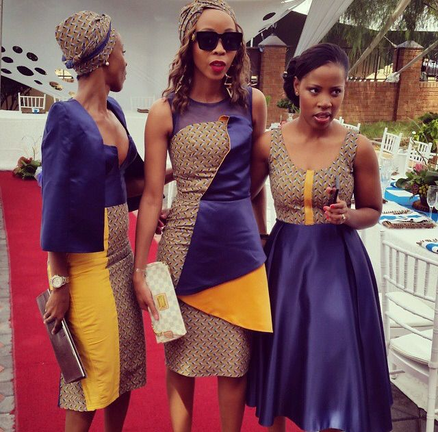tradition wedding guests in african attires @artisticgusto designs