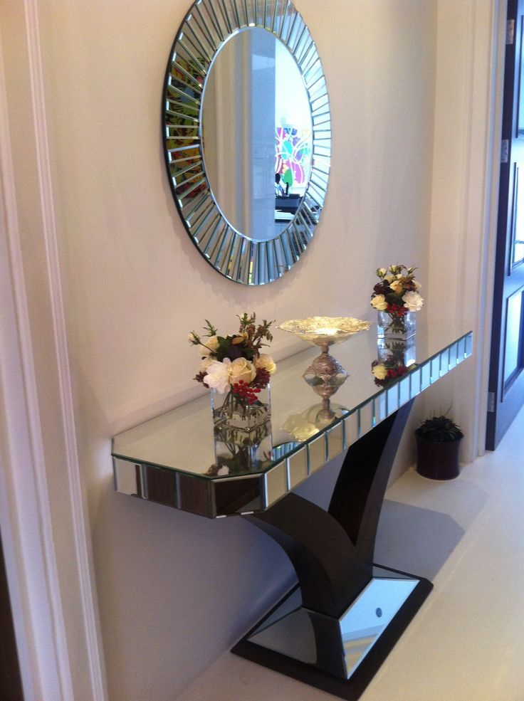 10 best quartz console mirror customer photos images for Foyer console table and mirror set