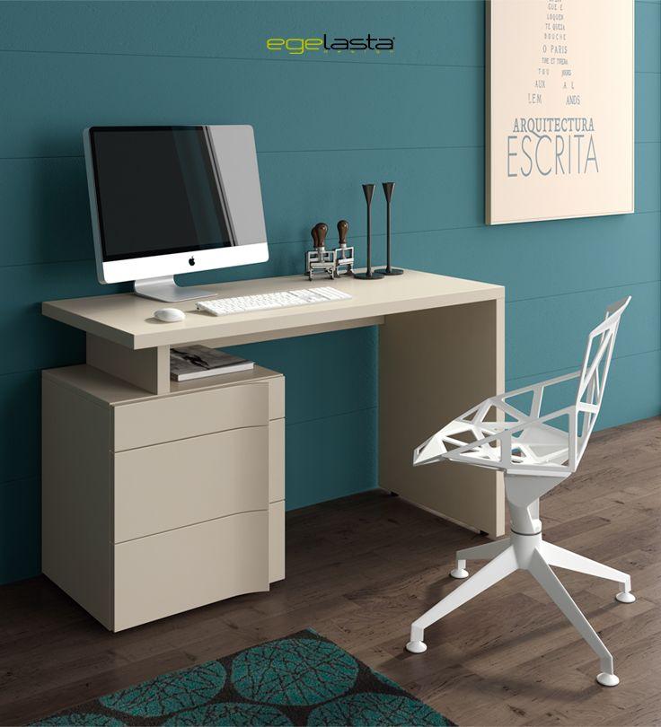 Muebles · egelasta · live · mueble · madera · moderno · escritorio con cajones · laca visón