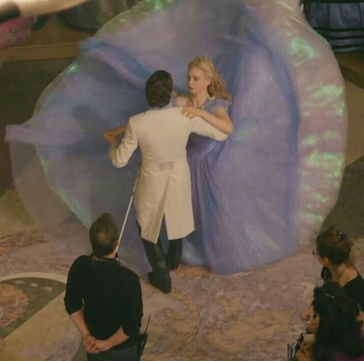 Richard Madden (Prince Kit) & Lily James (Cinderella)