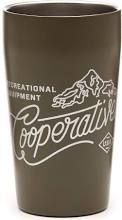 REI Co-op Logo Double-wall Vacuum Pint Cup - 16 fl. oz. Dark Army Cot