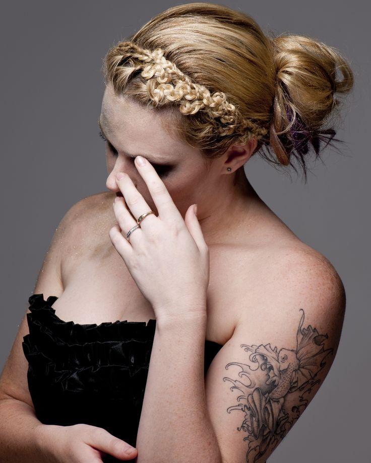Hairdressing #updo #tafe #blonde #braid