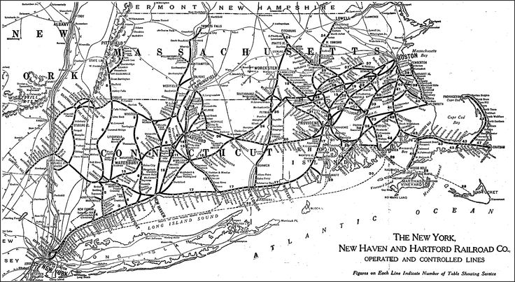 The New York New Haven And Hartford Railroad Maps