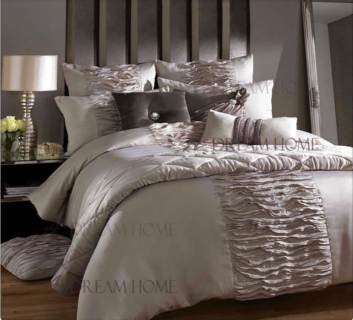 4PC/6PC European Bedding Set Luxury Gray King Size Bed Sets New Arrival Quilted Bedspreads Bed Cover-in Bedding Sets from Home & Garden on A...