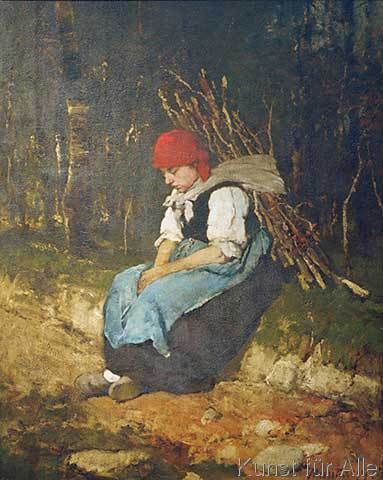 Mihaly Munkacsy - Reisigträgerin