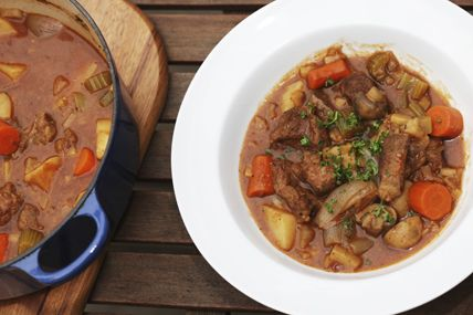 Hearty Beef Stew - For a quick, healthy meal in the middle of winter, try this hearty beef stew, or our vegan-friendly version. #teambeachbody #healthyrecipes