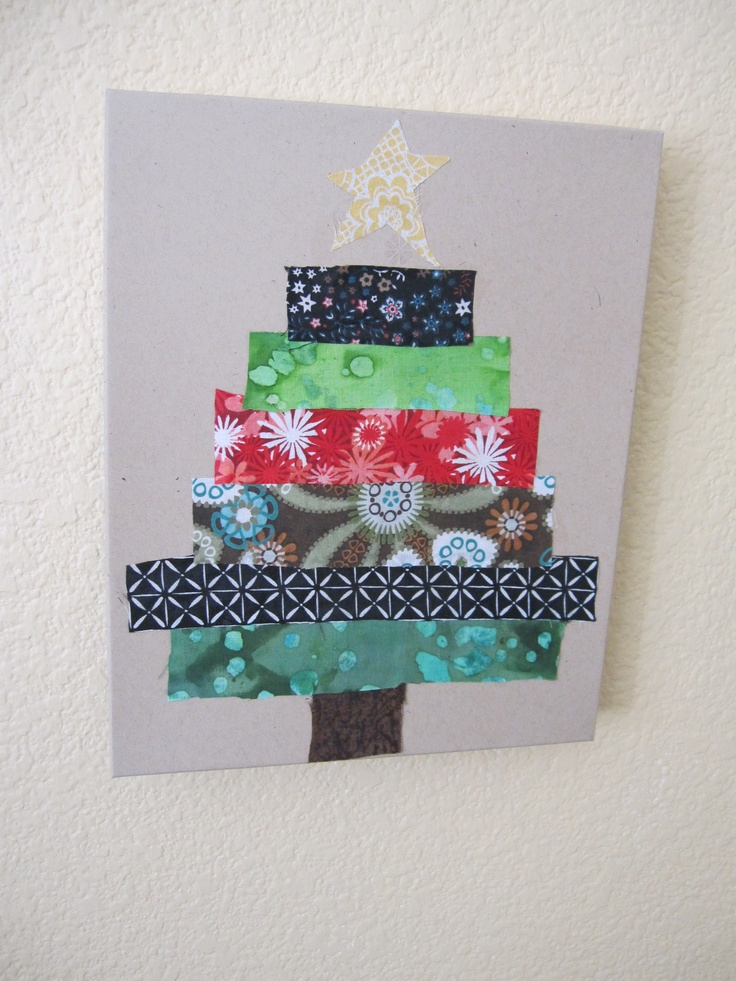 Christmas Tree Out Of Fabric Preschool Christmas Crafts