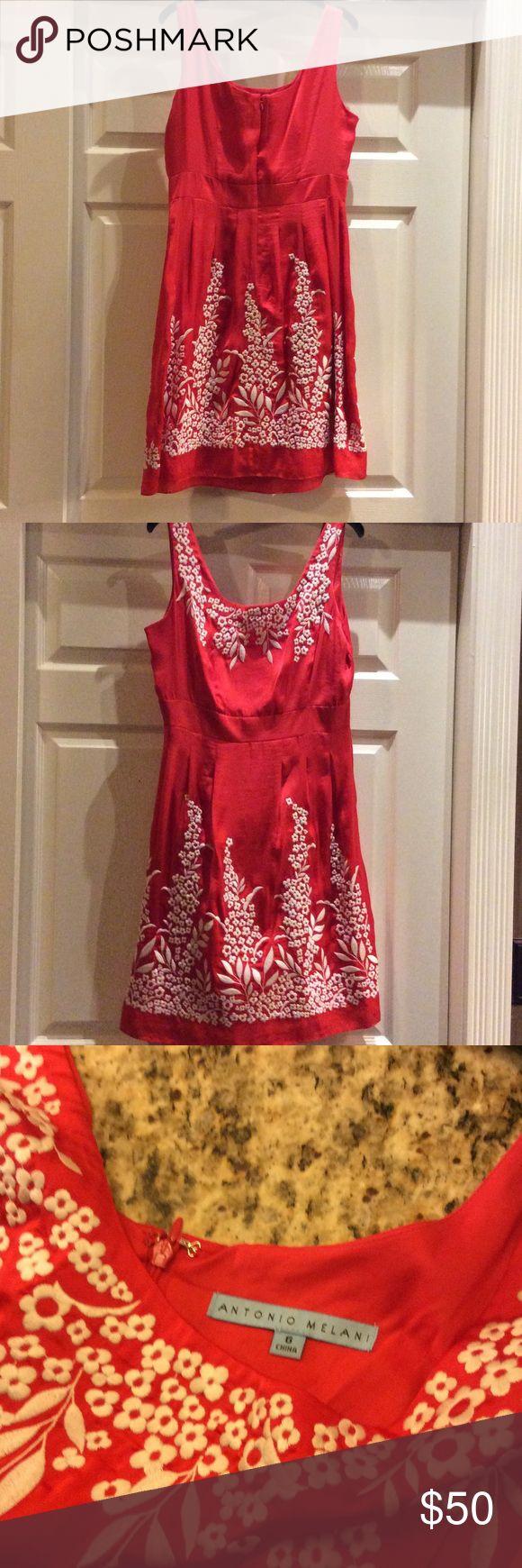 Antonio Melani dress Red with white flowers Antonio Melani dress. ANTONIO MELANI Dresses