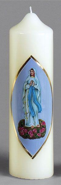 Marienkerze, 410, 220x60, Lourdes Madonna