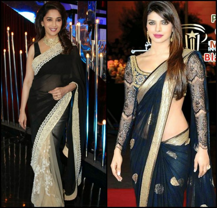 Designer sarees in Black