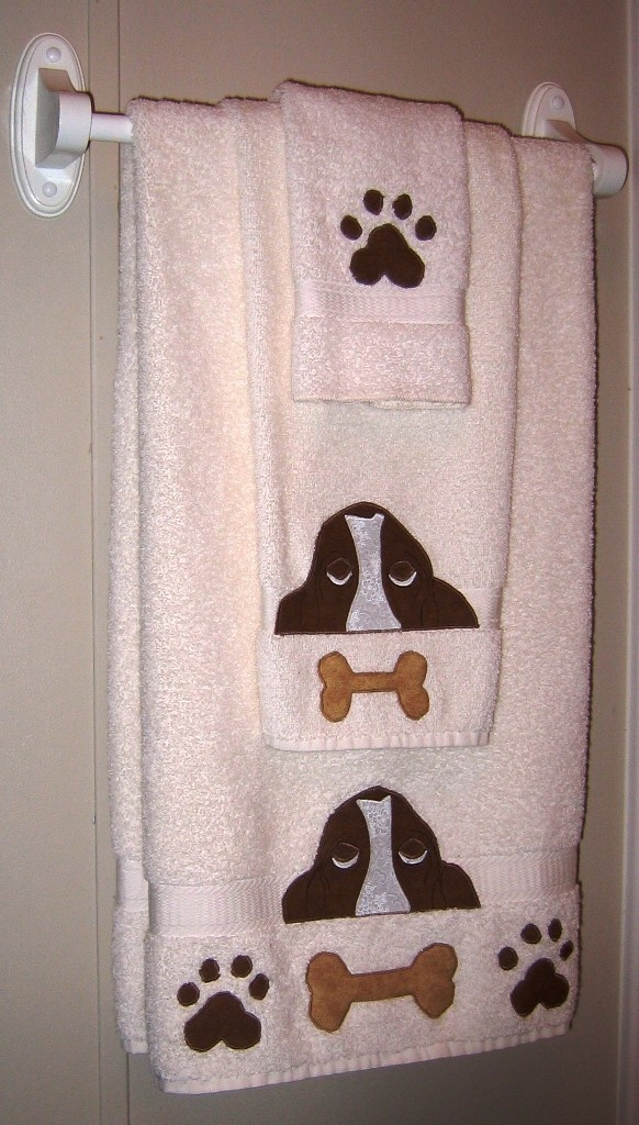 Basset Hound Towel Set to Benefit Rescues. $40.00, via Etsy.