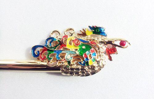 BINYEO HANBOK Rainbow Bird Hair pin Stick band dress party Korean girl Chinese