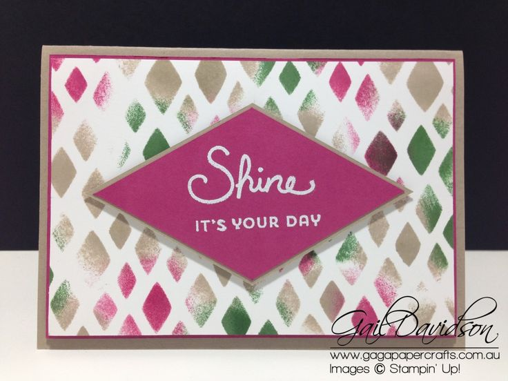 Gaga Papercrafts | Diamond Shine Card | Global Design Project | Click to see more designs from Gaga Papercrafts #gagapapercrafts #gdp017 #globaldesignproject #stampinup #handmadecards