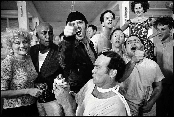 1 Джек Николсон (Jack Nicholson) на съемках One Flew Over the Cuckoo's Nest, 1974.