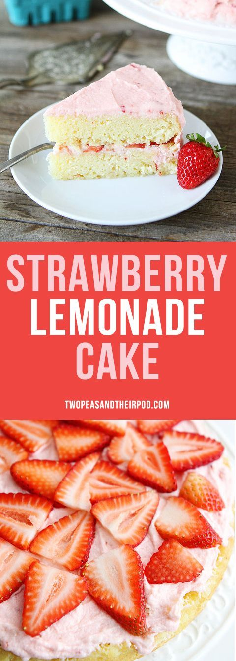 Strawberry Lemonade Cake this simple layer cake is made with fresh strawberries, fresh lemon juice, and a strawberry buttercream frosting. It will remind you of your favorite summer drink!