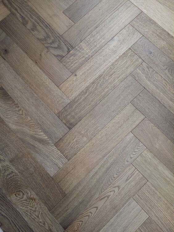 Grey Garden Engineered Herringbone Parquet Flooring