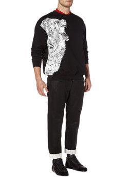 McQ Alexander McQueen Zwarte sweater met berenprint
