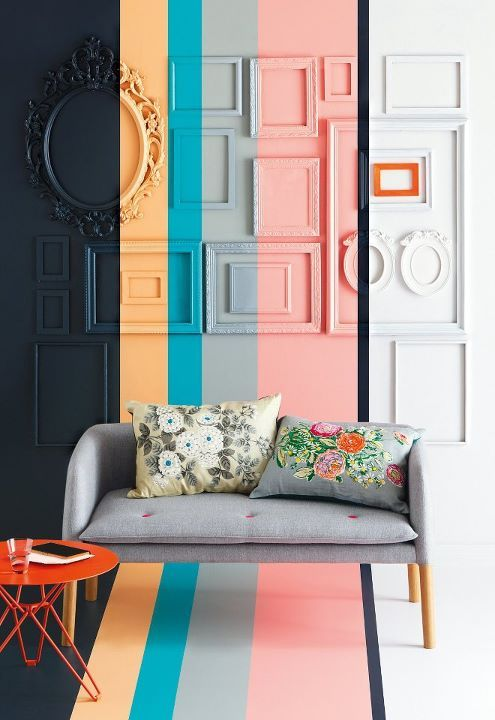 Imagine with magic vinyl and custom painted frames - solids? stripes? chevrons??
