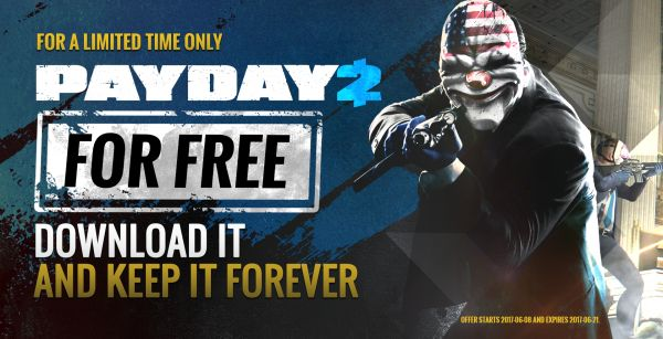 Terbatas 5 Juta Kopi, Payday 2 Kini GRATIS di Steam!