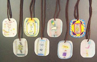 Make Cartouche Pendant  http://www.art-rageous.net/SpectrumEgypt.html#