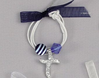 50pc Baby boy greek baptism martyrika Bracelet witness pins