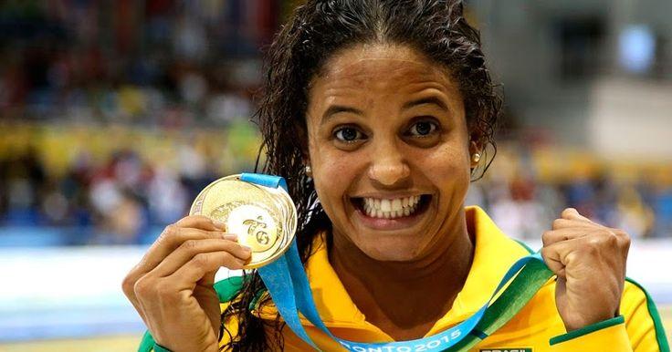 Pernambucana marca seu nome na história da natação brasileira