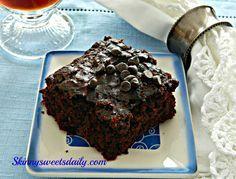 Double Chocolate Vegan Zucchini Brownies