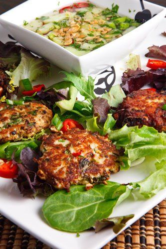 """Tod Mun Pla (Thai Fish Cakes) - I am so thrilled to find this recipe! I visited Thailand about 18 years ago and had this dish in a Thai restaurant. We couldn't understand Thai, so we called the dish """"Pla Blobs."""" I've been trying to find a recipe for these ever since!"""