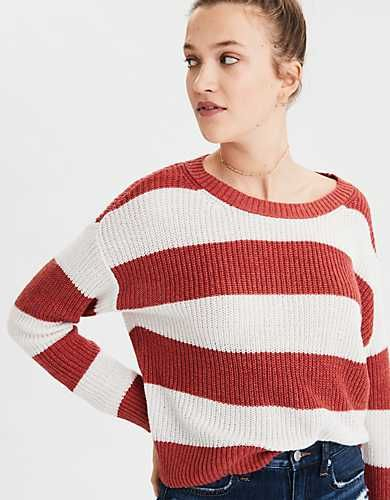 fdee23d6cd AE Rugby Stripe Rib Knit Pullover Sweater