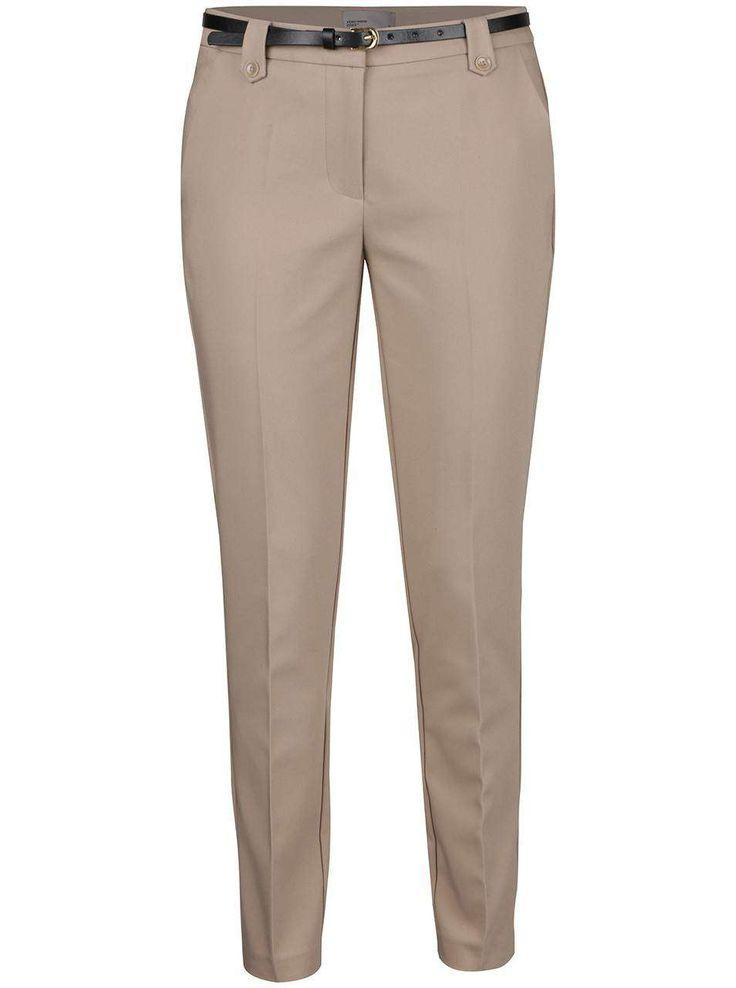 Pantaloni bej Vero Moda New Roos - Vero Moda