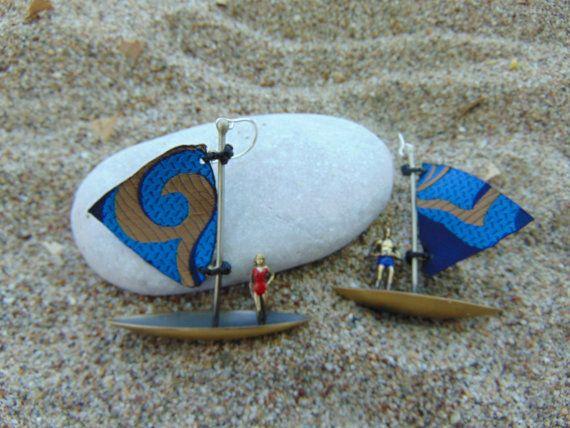 Sailing Ship Dangle EarringsHandmade Boat by pepeyoyojewellery