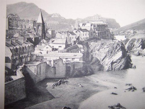 The view from St. Nicholas's Chapel in the 1890s, Ilfracombe, North Devon, England