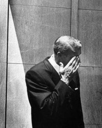 Joe DiMaggio, August 8, 1962 / at Marilyn Monroe's funeral