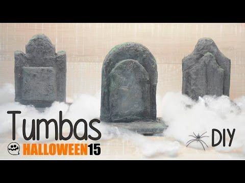 Haz tus propias TUMBAS - Halloween DIY - YouTube
