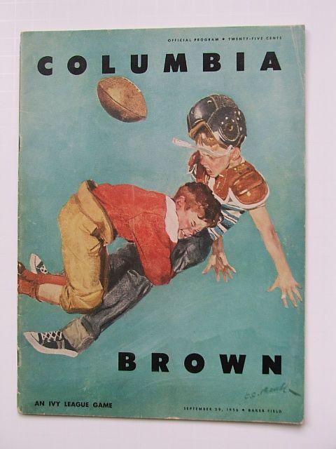   Vintage Brown University Football Program