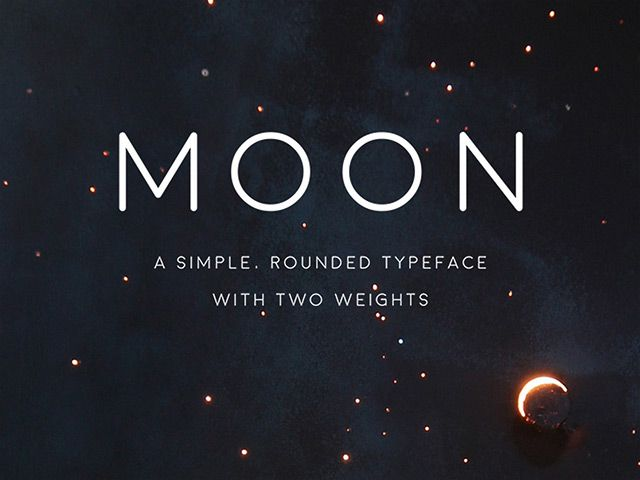 Moon is a rounded, simple, space-ie free font, with both thin and bold variations, free for personal use only. Designed by Jack Harvatt.