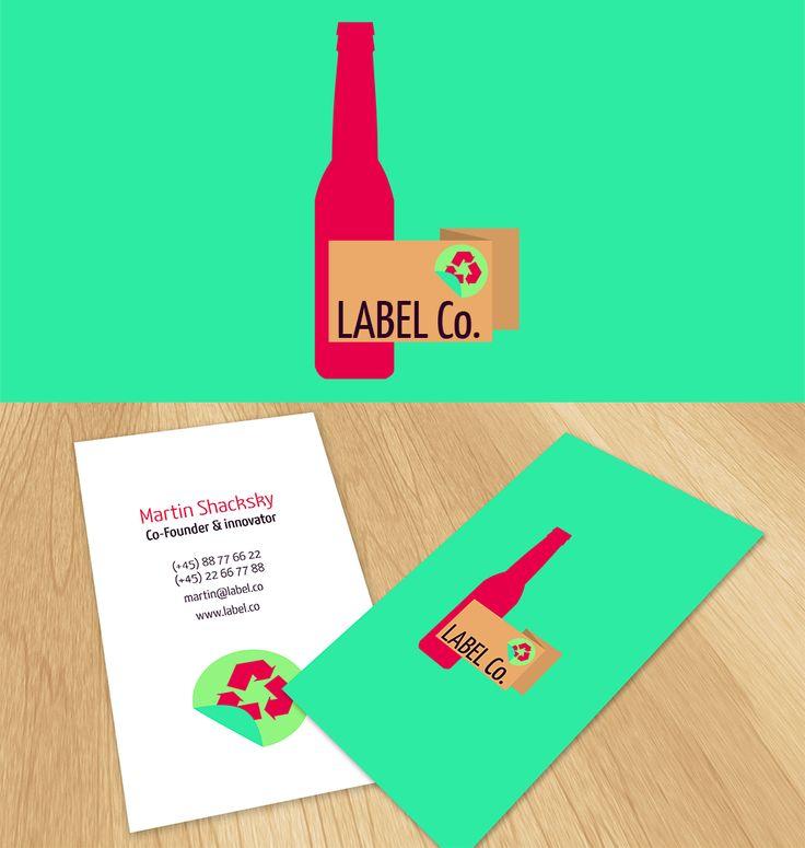 Label Co #logo and #businesscard design with #flatdesign | #brandrocket