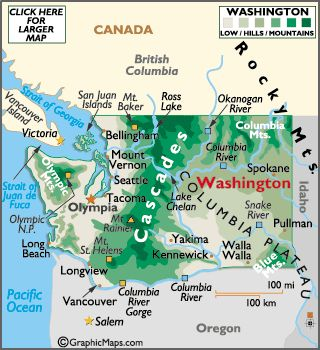 Best Washington State Map Ideas On Pinterest Sushi In - Wa state city map