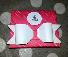 Scatolina con envelope punch board