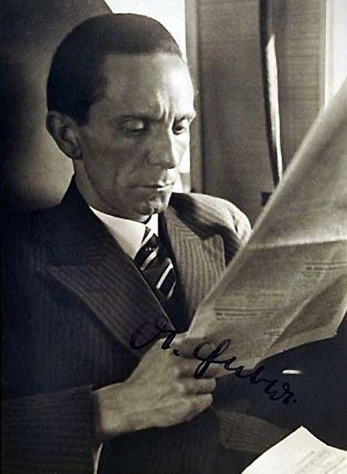 Dr Goebbels. (via ss-reicheagle)