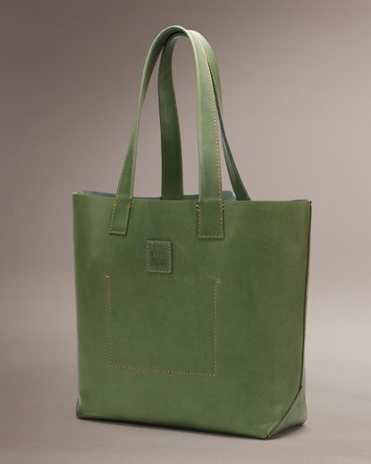 Frye Stitch Tote - Green via Country Outfitters